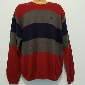 IZOD Men's Size L Cable Knit Sweater Stripped
